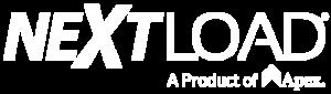 White NextLOAD logo