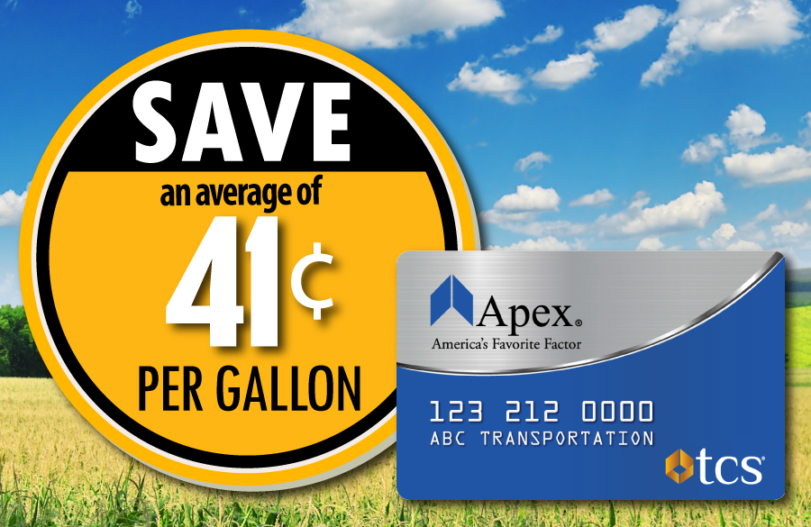 Save up to 41 cents with the Apex Fuel Card