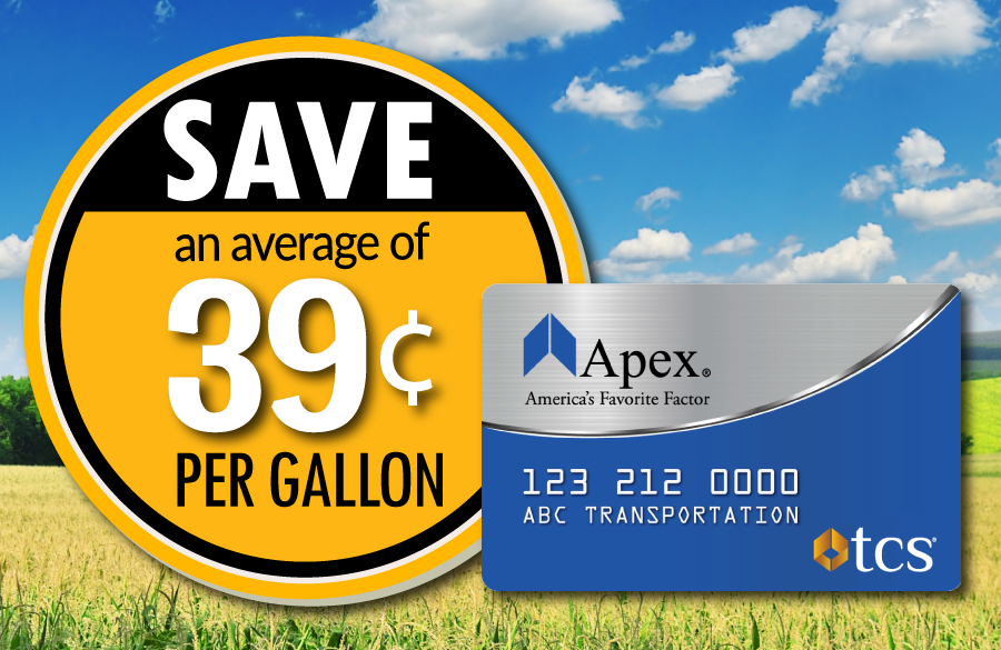 Save an average of 39 cents per gallon